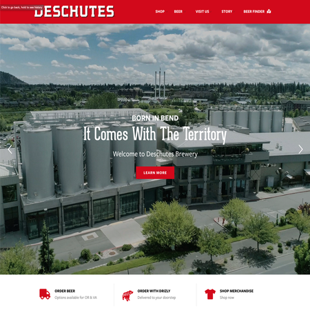 Deschutes Brewery's New Site Launches!